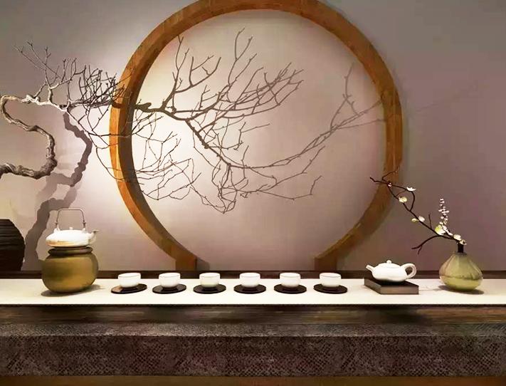 于禅意中式风格茶空间品一盏清茶  恬静淡雅,宁谧超然