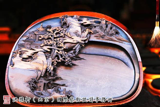 中式书房歙砚