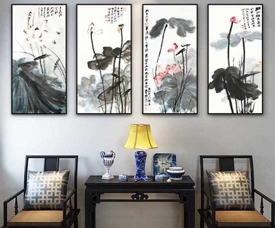 """中式室内装饰画 传递""""游目""""""""游心""""的空间意趣"""
