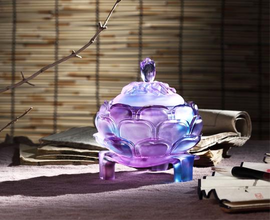 中式空间琉璃摆件——色蕴万千,灵性宛然