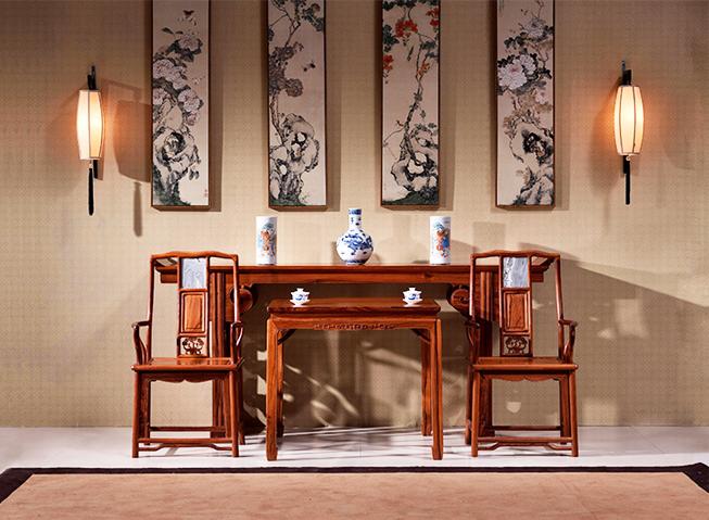 红酸枝木古典家具于中式空间一展木性之美