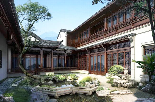 中式风格庭院 一处古雅悠然修身养性之境
