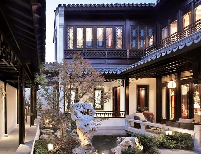 中式风格宅院|竹林小径通宅门,庭院深深听蝉音