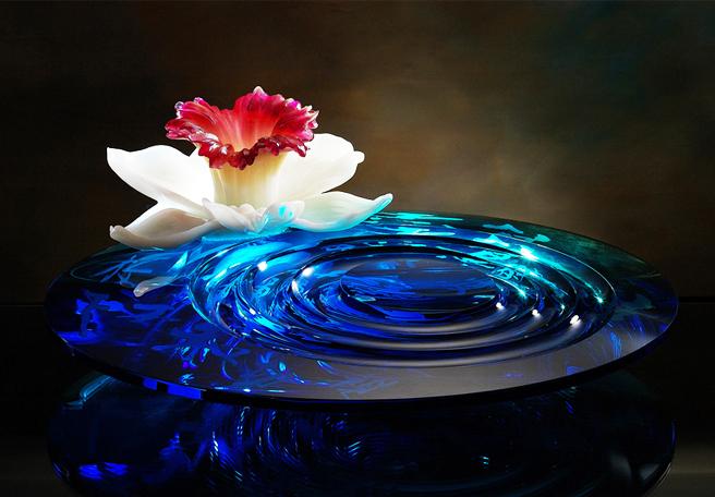 琉璃花中式摆件——沾染空间一片虚静禅意