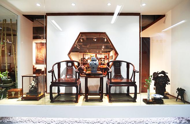 古典红木家具  中式设计空间中的苍古景致