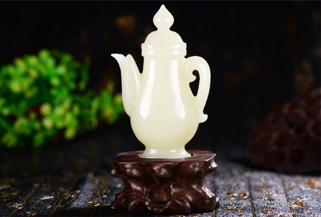 中式空间和田玉壶陈设之美|纯净剔透,清纯无尘