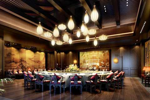 京城某私人会所中式装修 回归传统品味生活