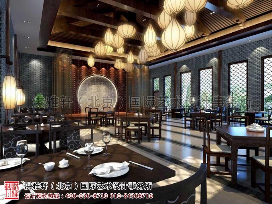 会所中式装修效果图之餐饮空间