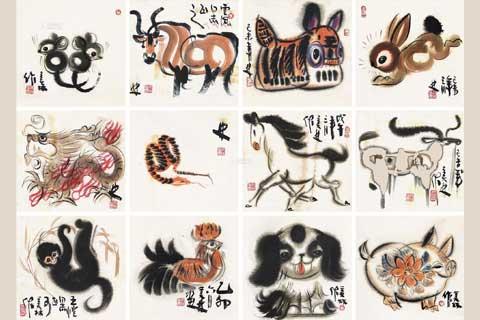 传统工艺中十二生肖图案的文化内涵及运用