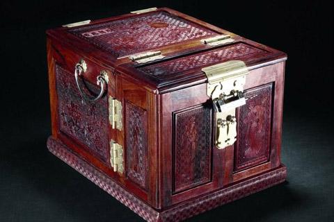 梳妆匣古代首红木饰盒,展现古典艺术之魅力