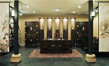 中式书房装修让茶香墨韵,木韵芳华