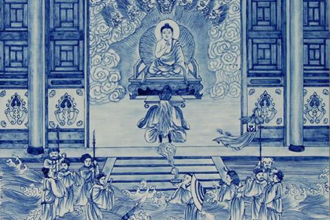 青花瓷绘制出一幅幅佛教故事-聆听靡靡佛音