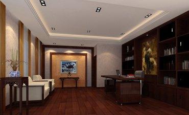 中式别墅装修之书房设计色彩搭配和要点