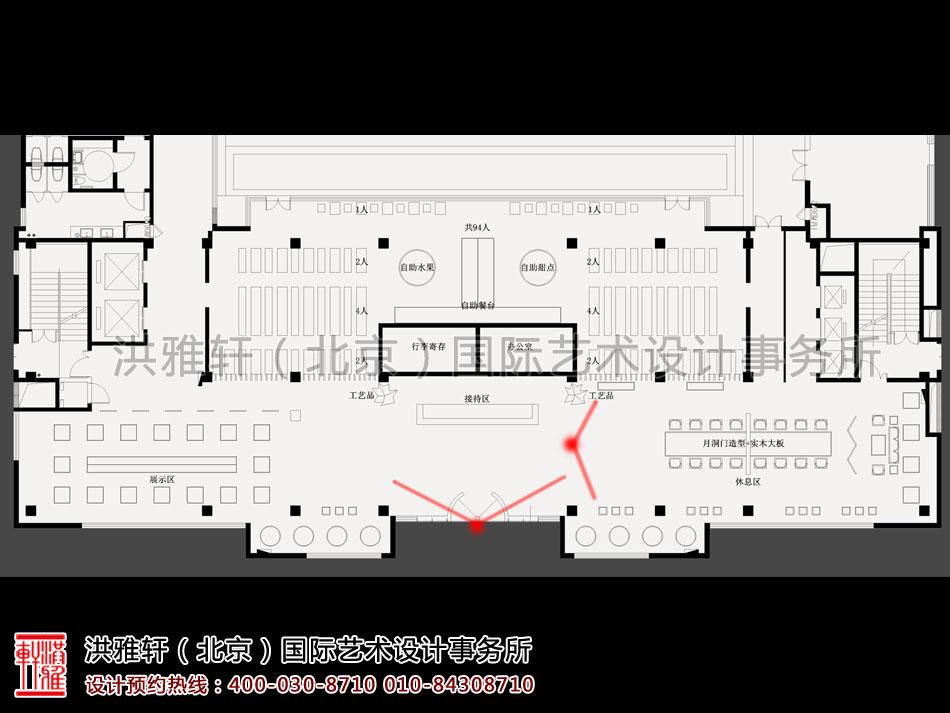 南京宾馆禅意设计方案之大堂平面