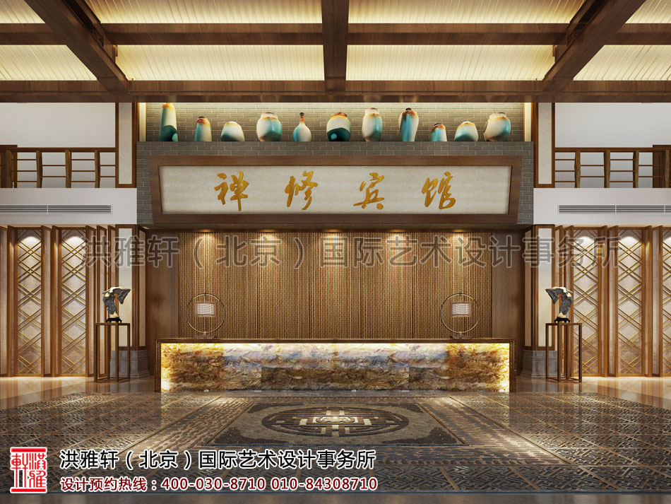 南京禅意宾馆设计方案之大堂