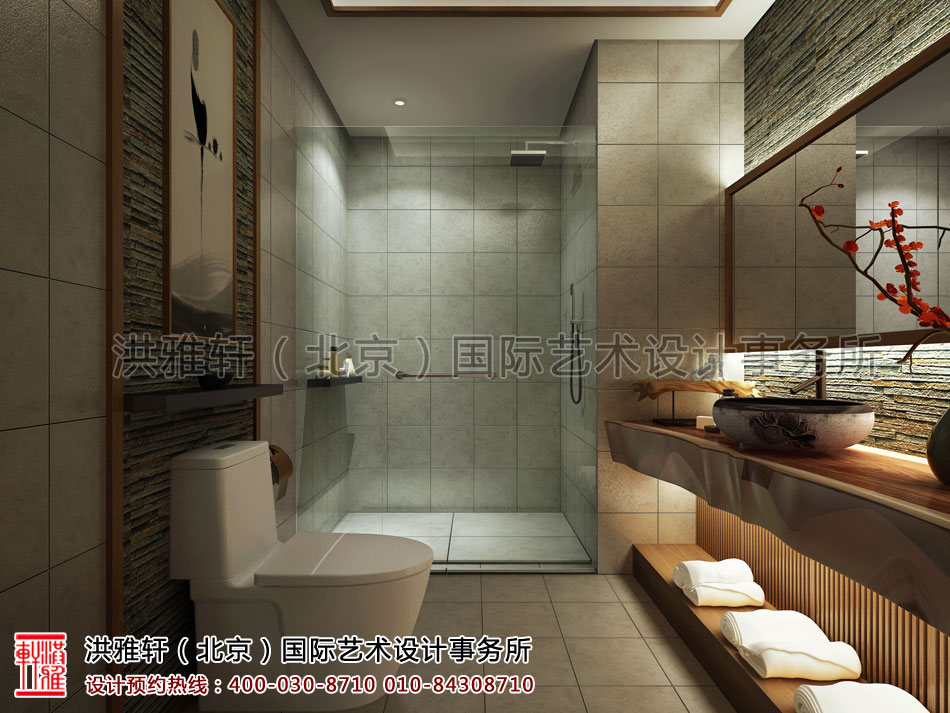南京宾馆禅意设计方案之洗手间