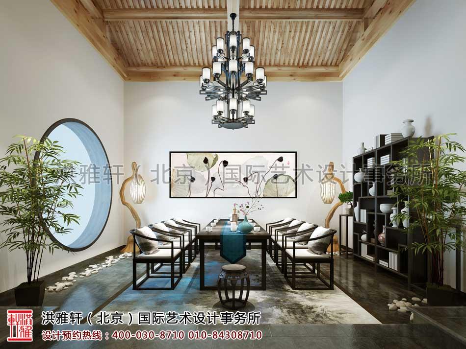 北京清河营四合院中式设计之茶室