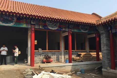 河北省某寺院装修施工现场一览