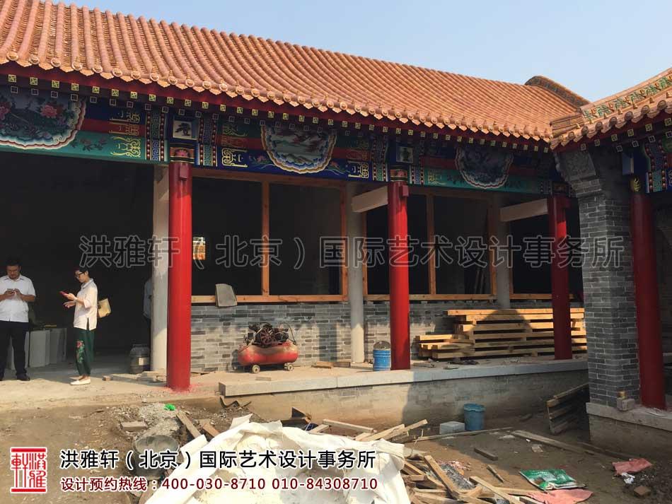 河北省某寺院装修施工现场一览(图一)