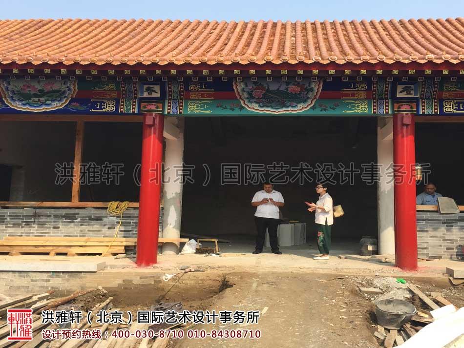 河北省某寺院装修施工现场一览(图二)