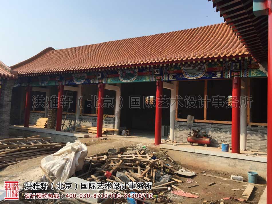 河北省某寺院装修施工现场一览(图四)