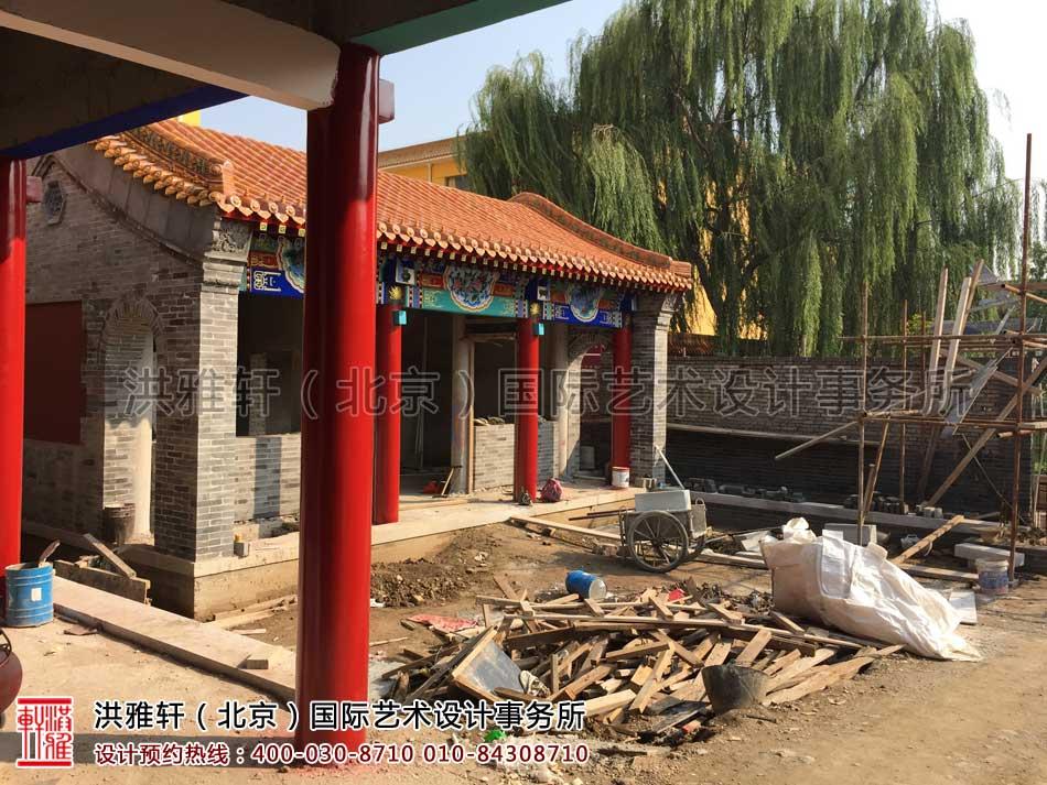 河北省某寺院装修施工现场一览(图六)