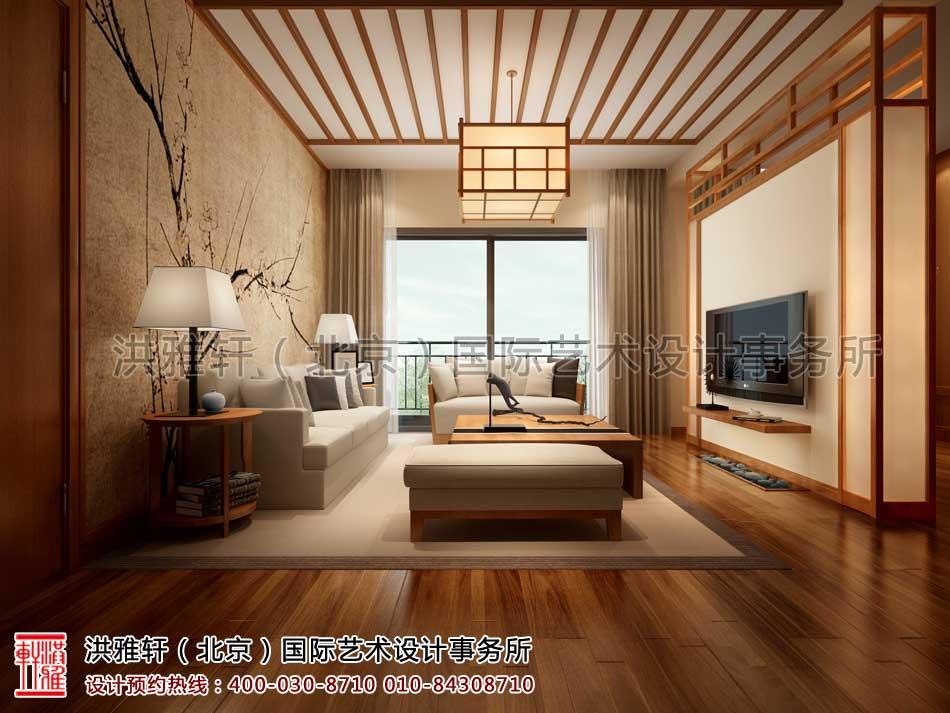 江苏苏州某客户禅意中式家装案例之客厅