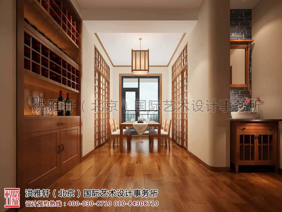 江苏苏州某客户禅意中式家装案例之餐厅