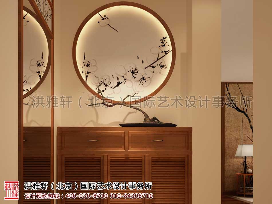江苏苏州某客户禅意中式家装案例之门厅