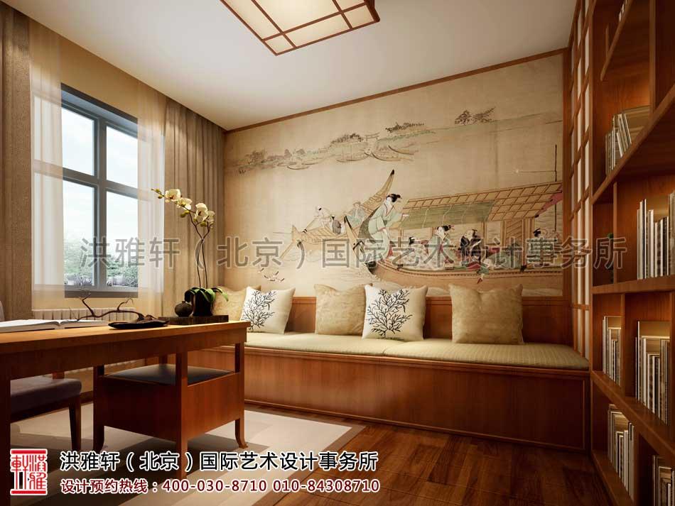 江苏苏州某客户禅意中式家装案例之书房