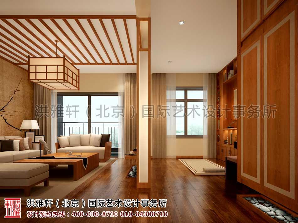 江苏苏州某客户禅意中式家装案例之瑜珈房起居室