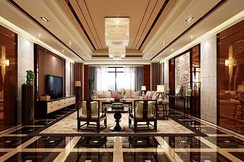河北石家庄某客户270平米现代中式家装案例