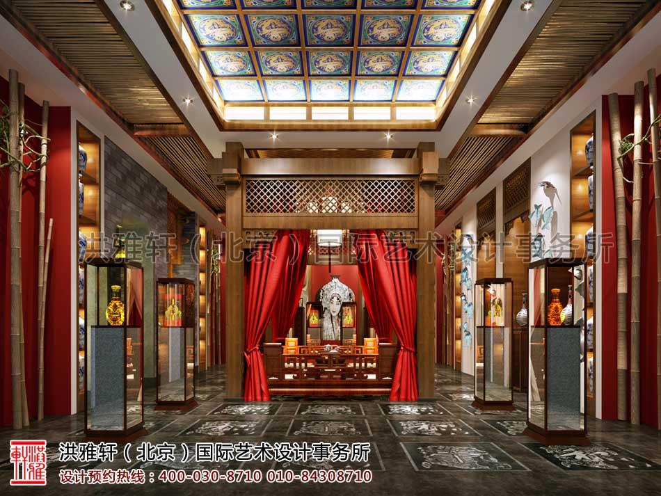 北京密云会所中式装修-展厅