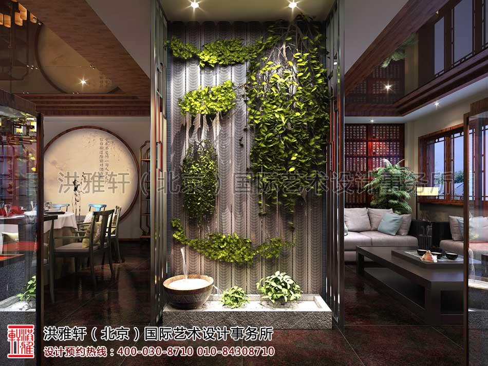 北京密云会所中式装修-二楼包间一角