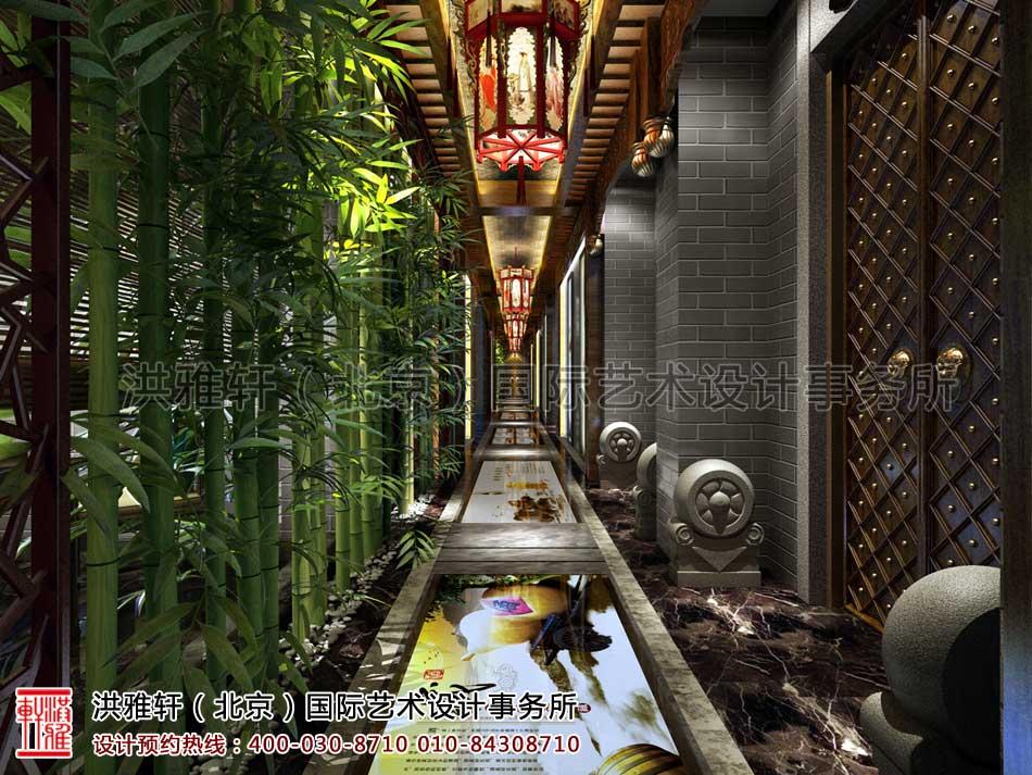 北京密云会所中式装修-过道