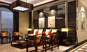 中式家装 两居室客厅卧室中式装修效果图