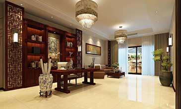 新古典中式别墅客厅装修效果图集锦