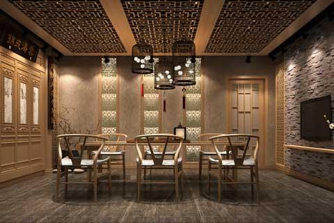"""山东济南茶室中式设计 成就""""茶禅一味""""之境界"""