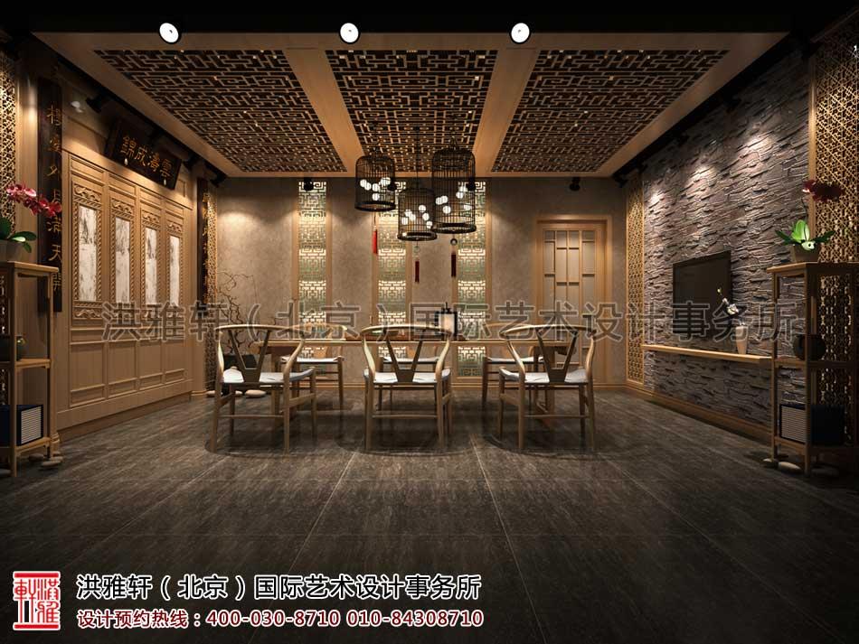 山东济南茶室中式设计之包房效果图