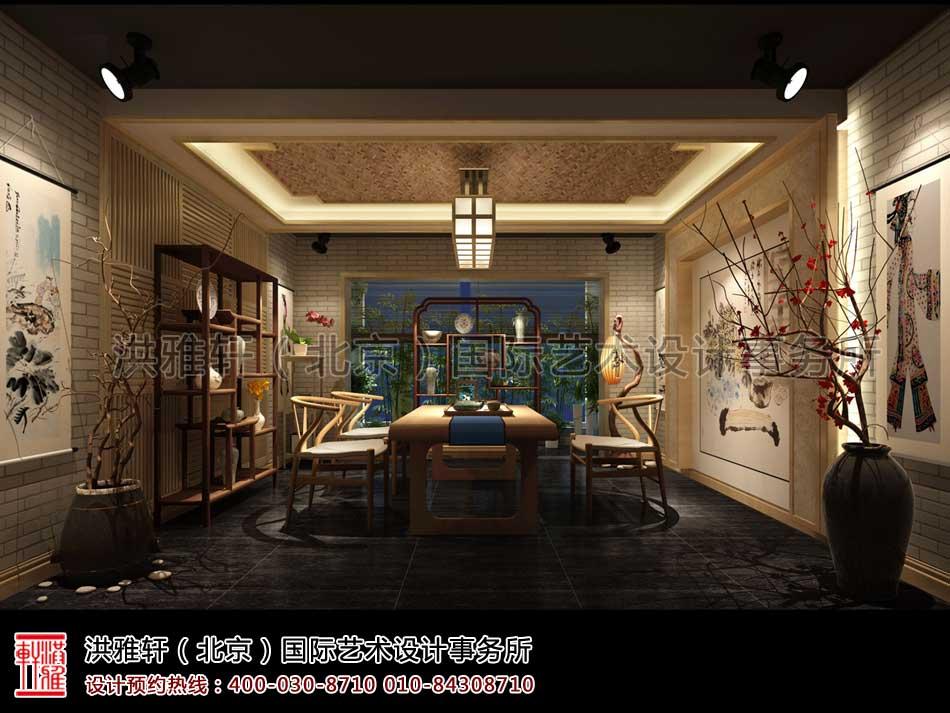 山东济南茶室中式设计之茶室效果图(一)