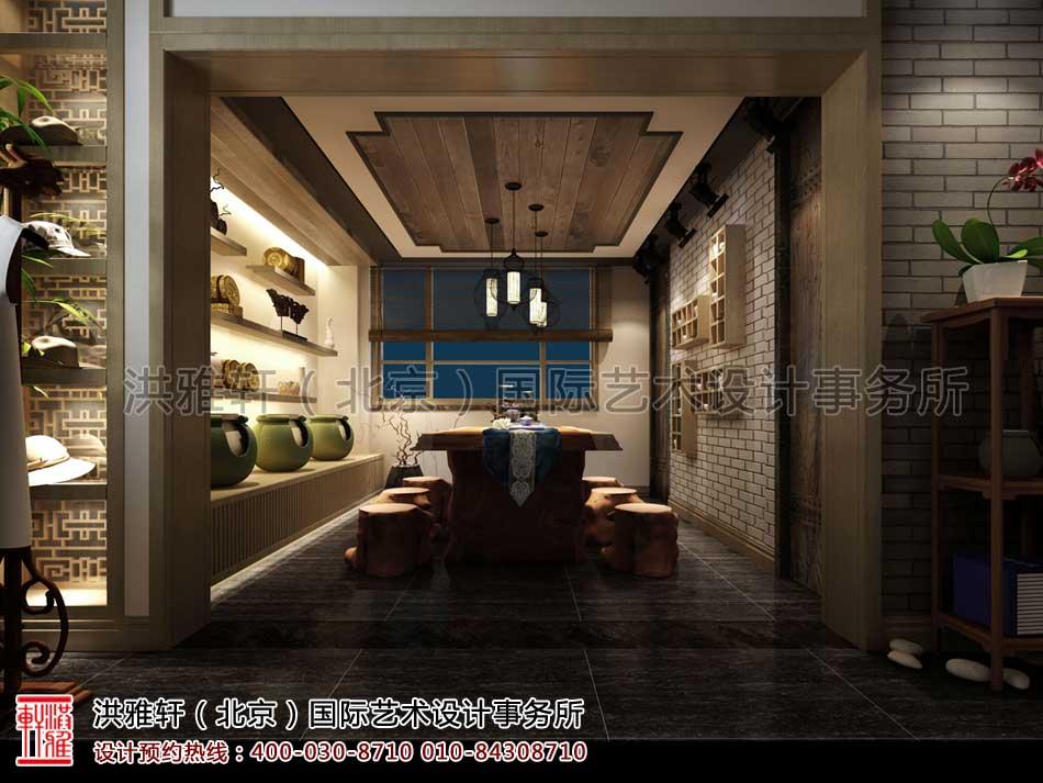 山东济南茶室中式设计之茶室效果图(二)