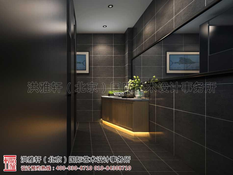 山东济南茶室中式设计之洗手间效果图