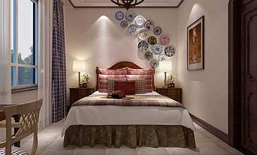 中式卧室古典简约现代效果图集锦欣赏
