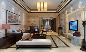 新中式简洁客厅风格装修效果图欣赏