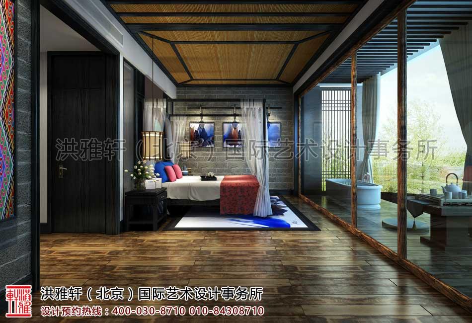 江西宜昌长阳某客栈整体规划设计之客房效果图一角