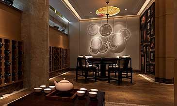 茶楼中式装修效果图茶室包间集锦分享