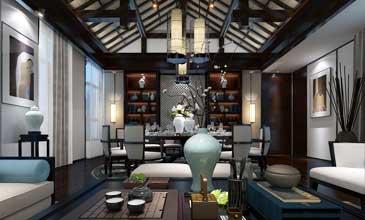 中式风格会所展厅装修效果图一览(一)
