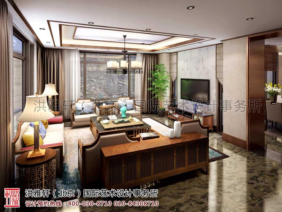 泰禾北京院子别墅中式设计之首层会客厅