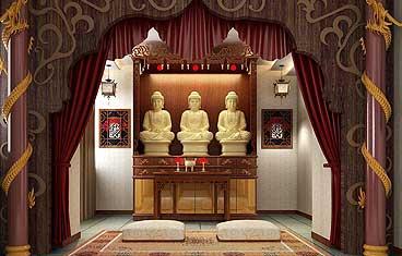 家居佛堂设计,家庭佛堂装饰,佛堂设计案例及定制