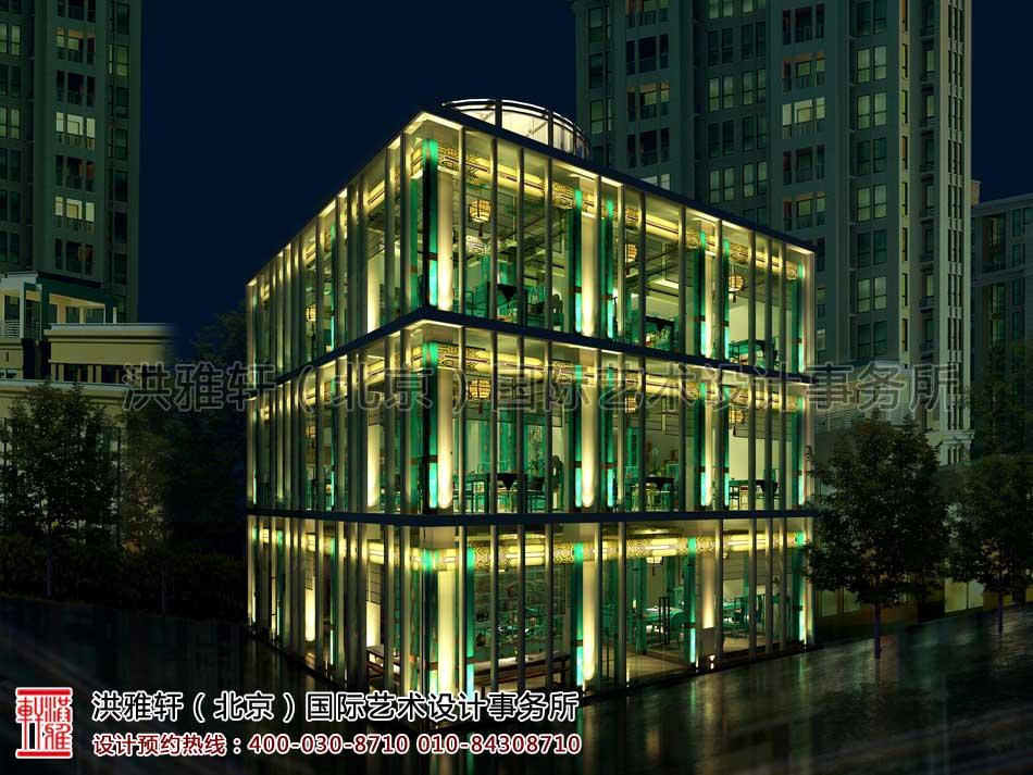 北京建外SOHO茶楼中式设计 - 外观墙面